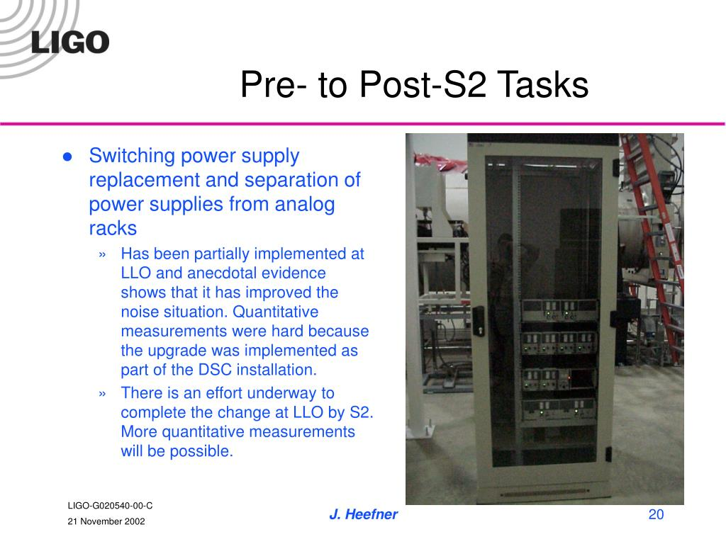 Pre- to Post-S2 Tasks