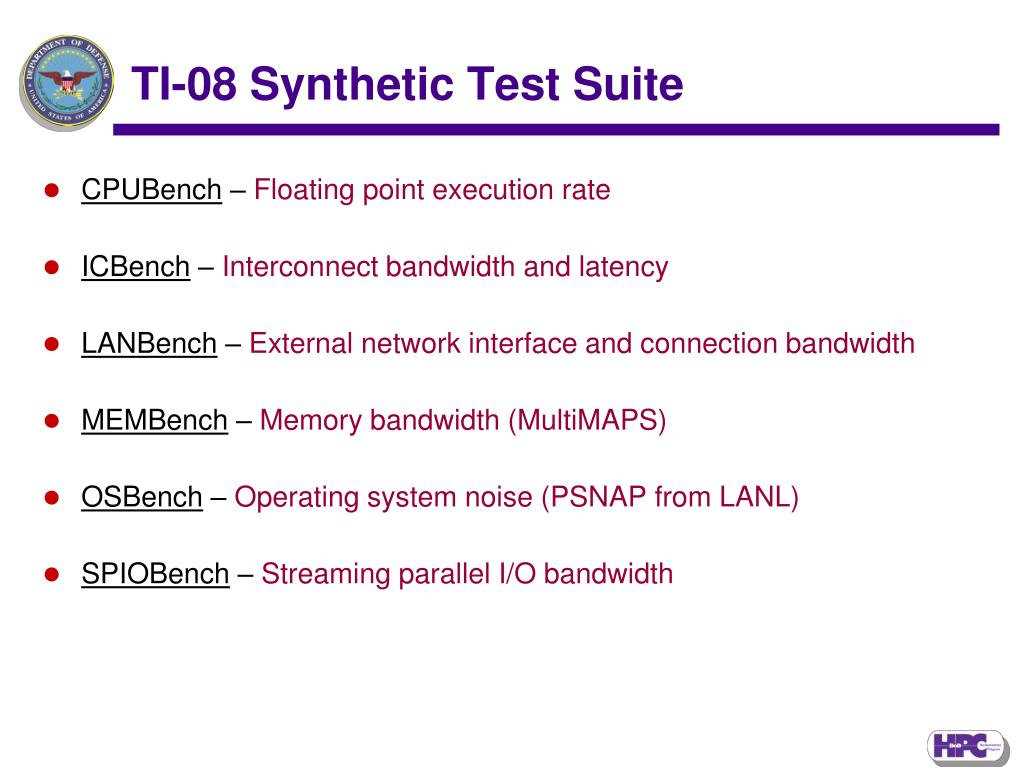 TI-08 Synthetic Test Suite