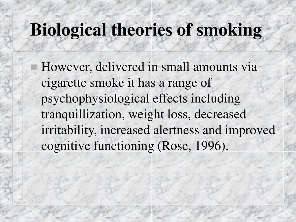 Biological theories of smoking