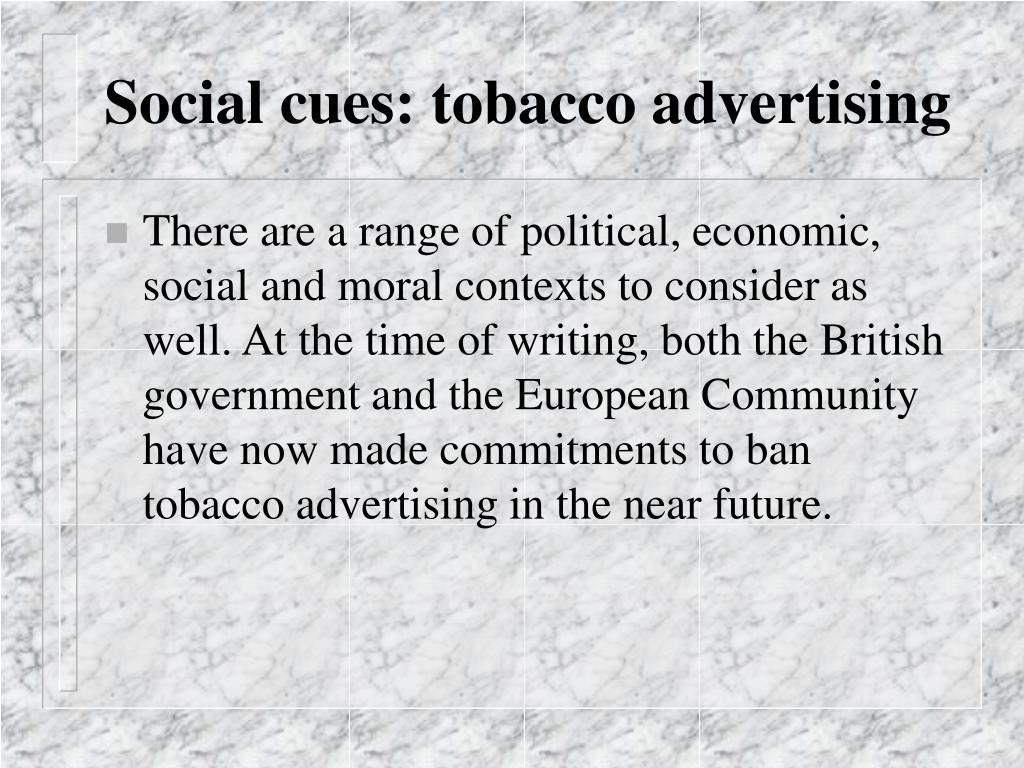 Social cues: tobacco advertising