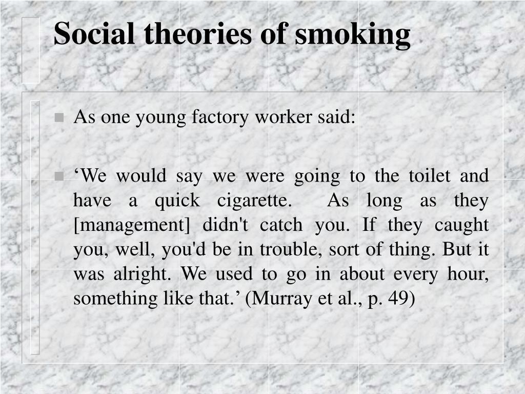 Social theories of smoking