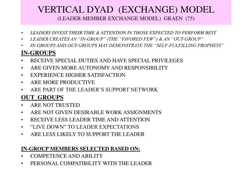 VERTICAL DYAD  (EXCHANGE) MODEL