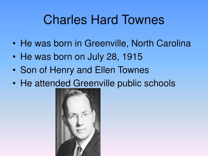 Charles hard townes1