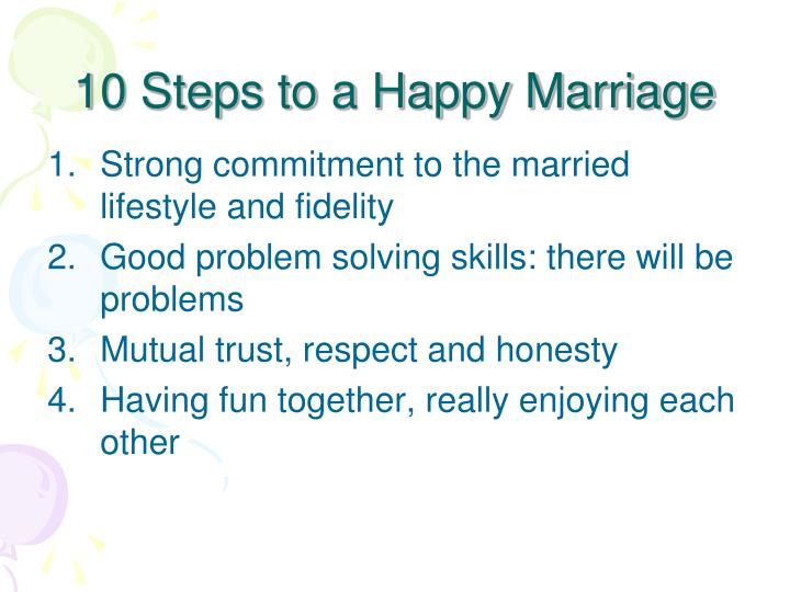 10 Steps to a Happy Marriage