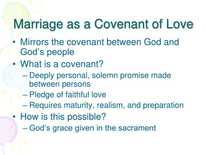 Marriage as a Covenant of Love