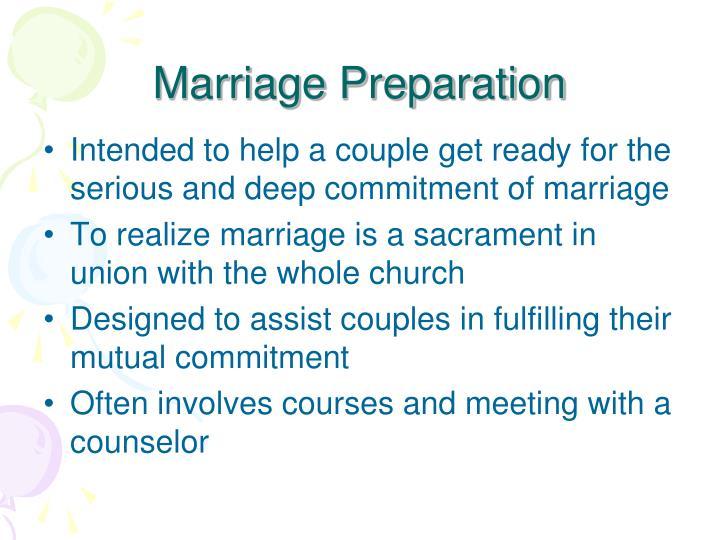 Marriage Preparation