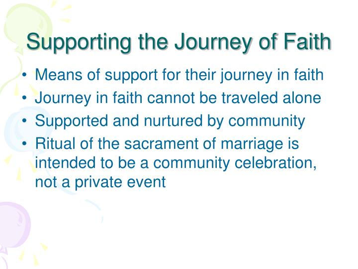 Supporting the Journey of Faith