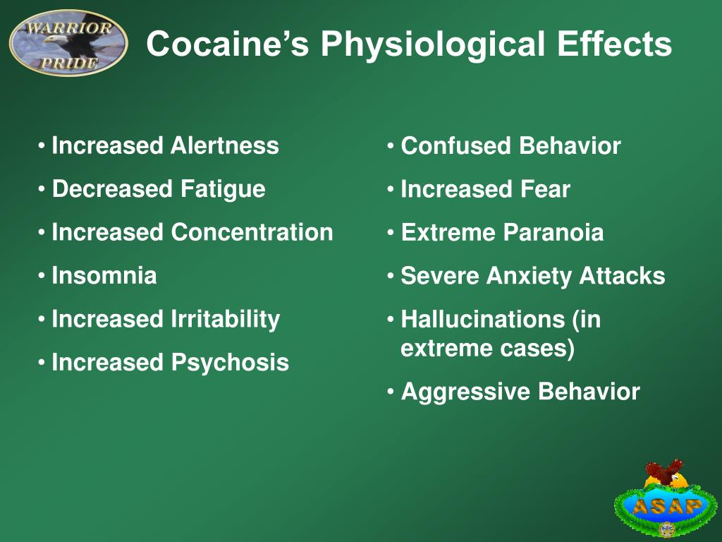 Cocaine's Physiological Effects