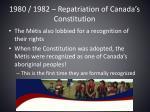 1980 1982 repatriation of canada s constitution2