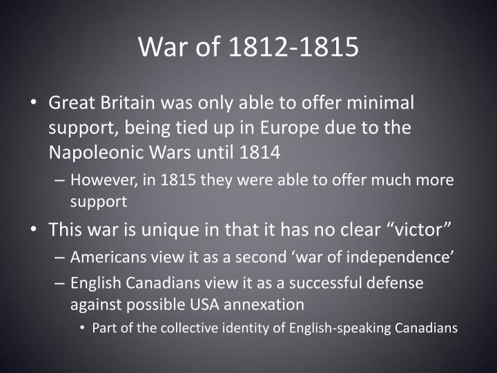 War of 1812-1815