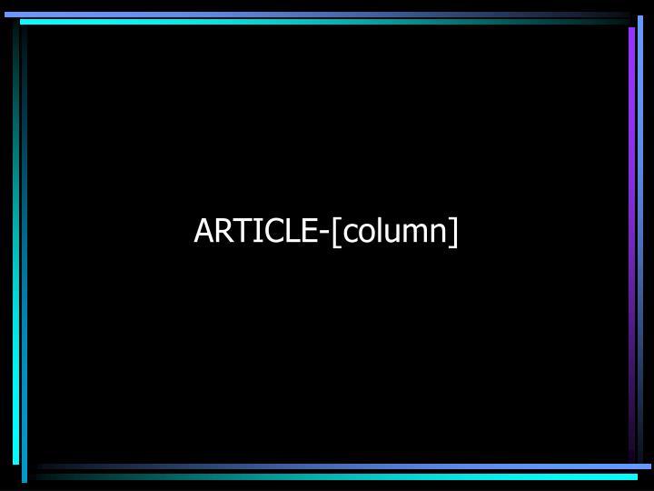 ARTICLE-[column]