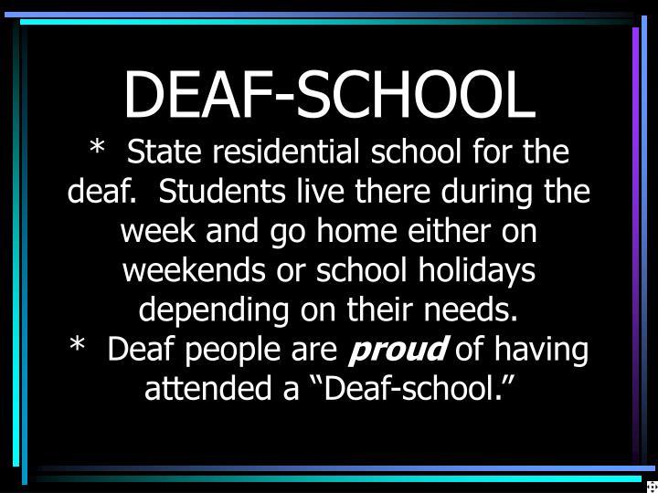 DEAF-SCHOOL