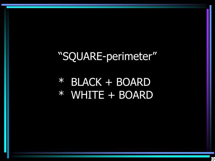 """""""SQUARE-perimeter"""""""