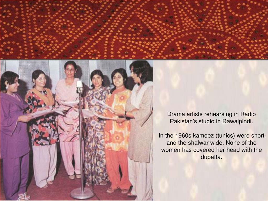 Drama artists rehearsing in Radio Pakistan's studio in Rawalpindi.