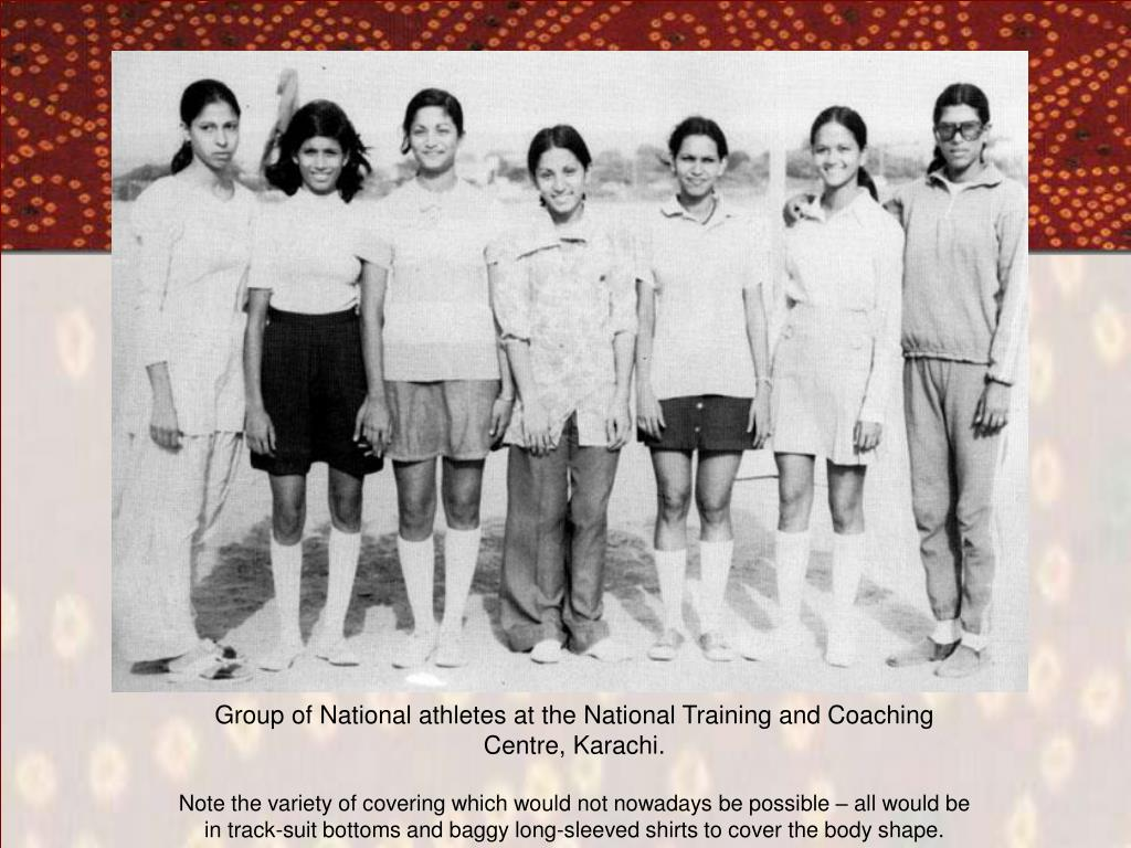 Group of National athletes at the National Training and Coaching Centre, Karachi.