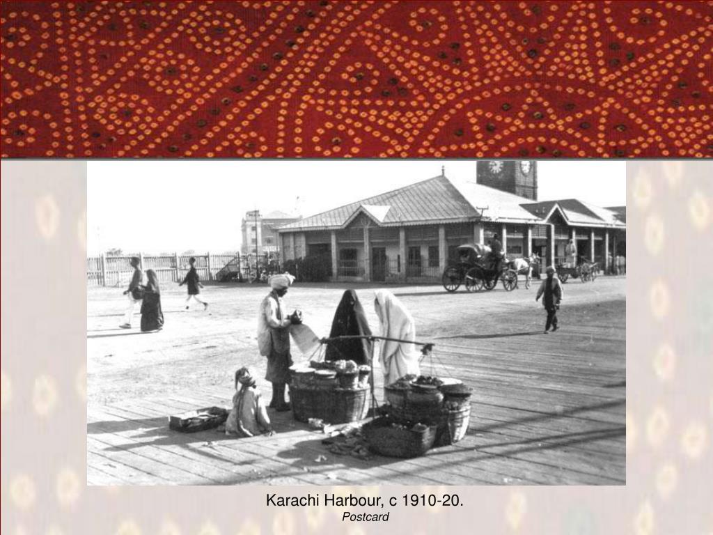 Karachi Harbour, c 1910-20.