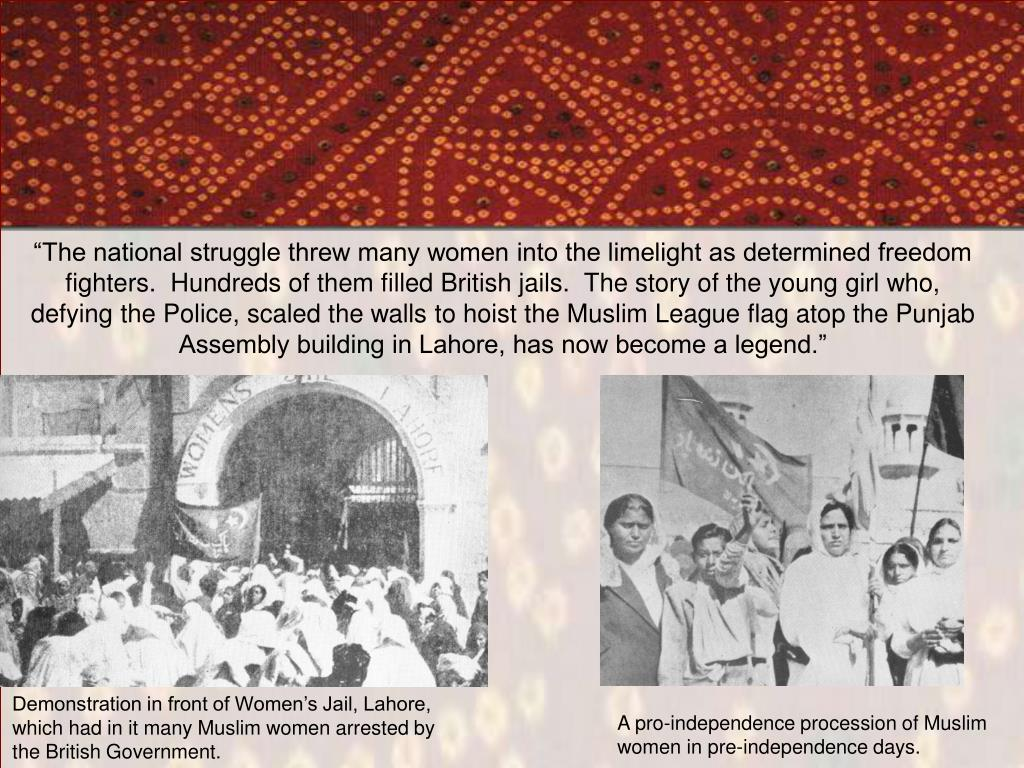 Demonstration in front of Women's Jail, Lahore, which had in it many Muslim women arrested by the British Government.