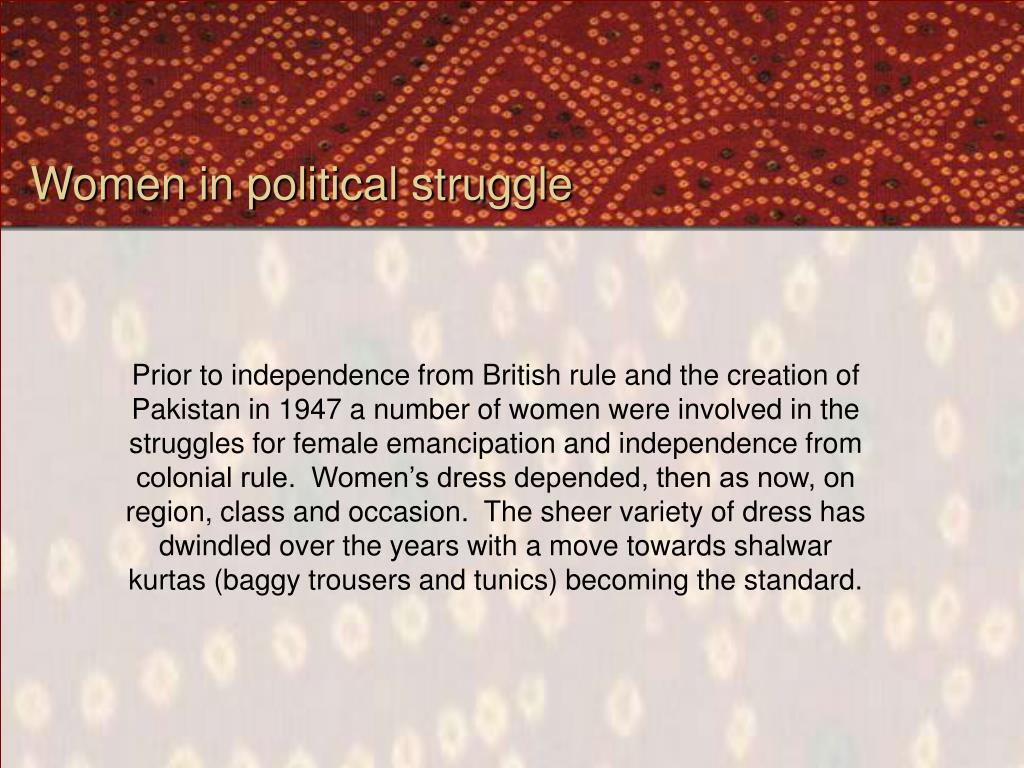 Women in political struggle