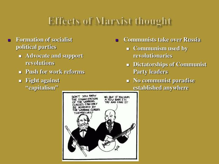 Effects of Marxist thought