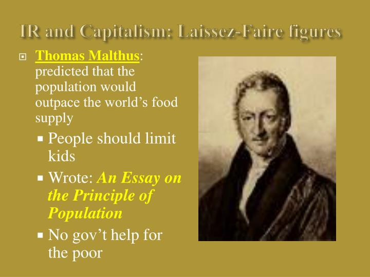 IR and Capitalism: Laissez-Faire figures
