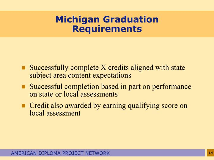 Michigan Graduation Requirements