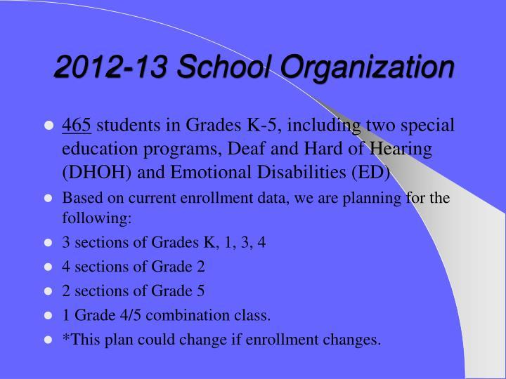 2012-13 School Organization
