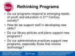 rethinking programs