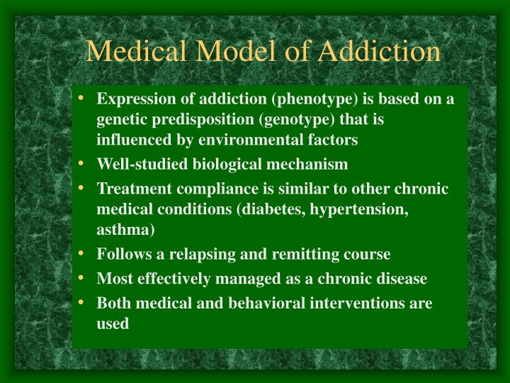 Medical model of addiction