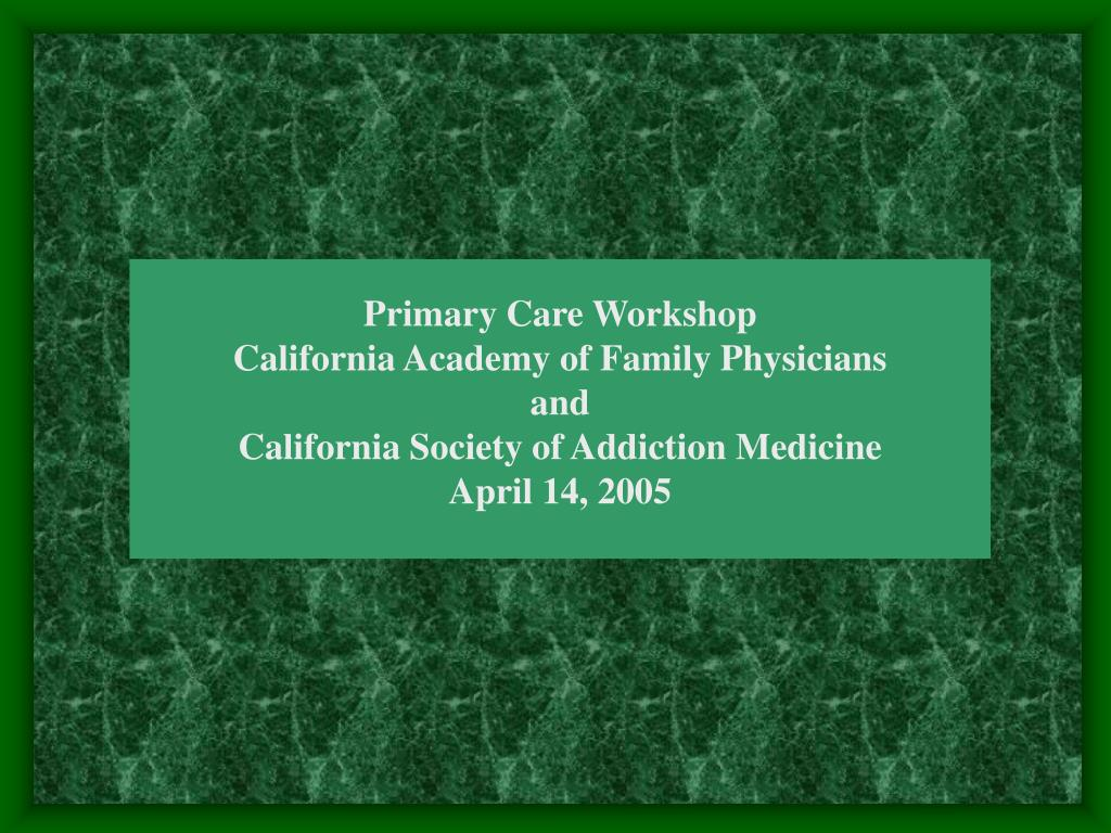 Primary Care Workshop