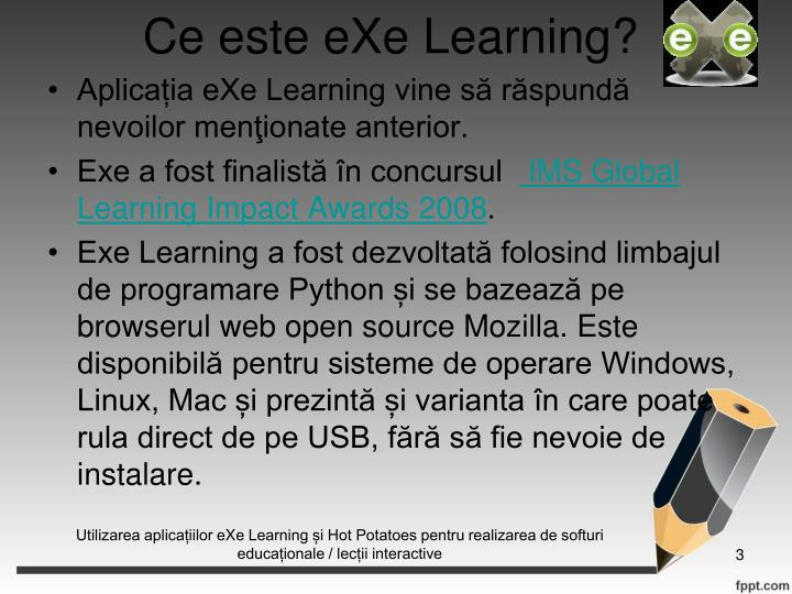 Ce este eXe Learning