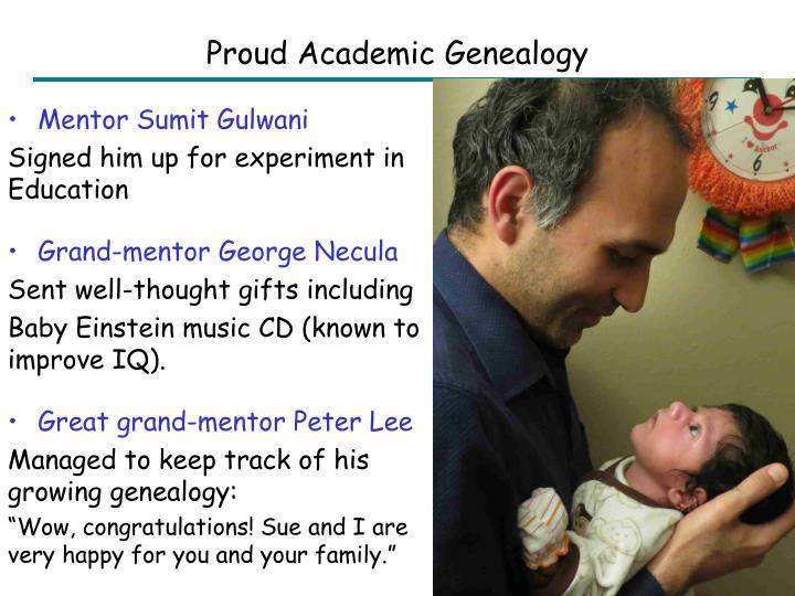 Proud Academic Genealogy