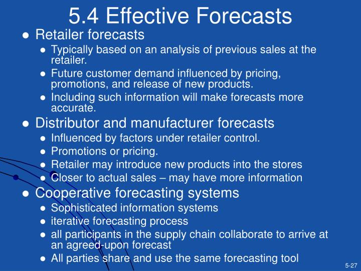 5.4 Effective Forecasts