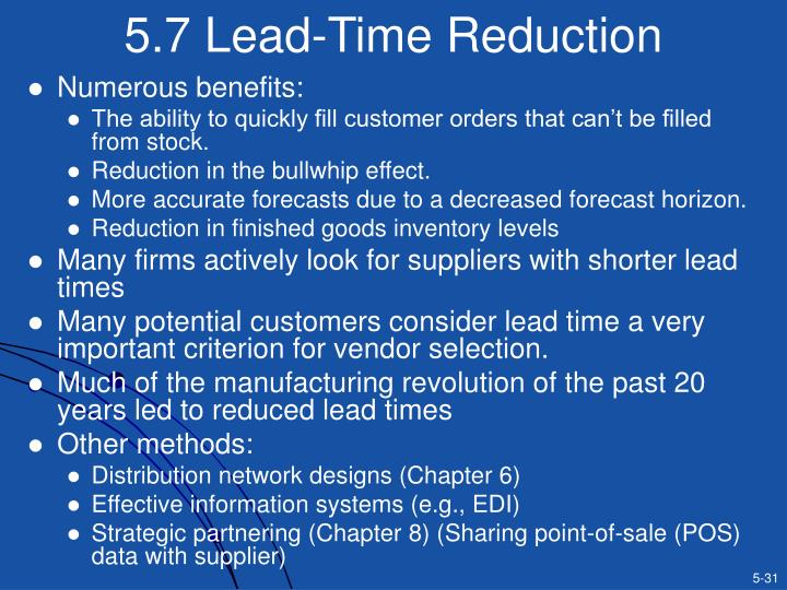 5.7 Lead-Time Reduction