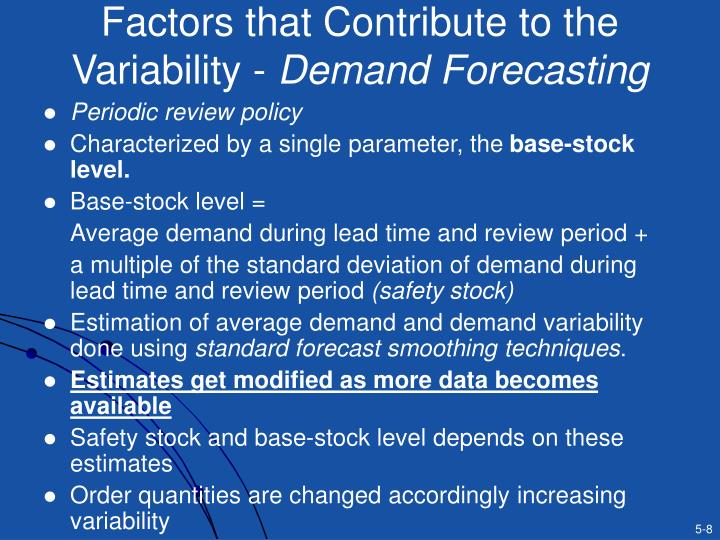 Factors that Contribute to the Variability -