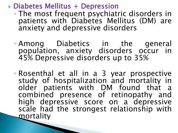 Diabetes Mellitus + Depression