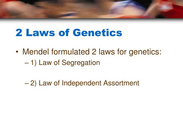 2 Laws of Genetics