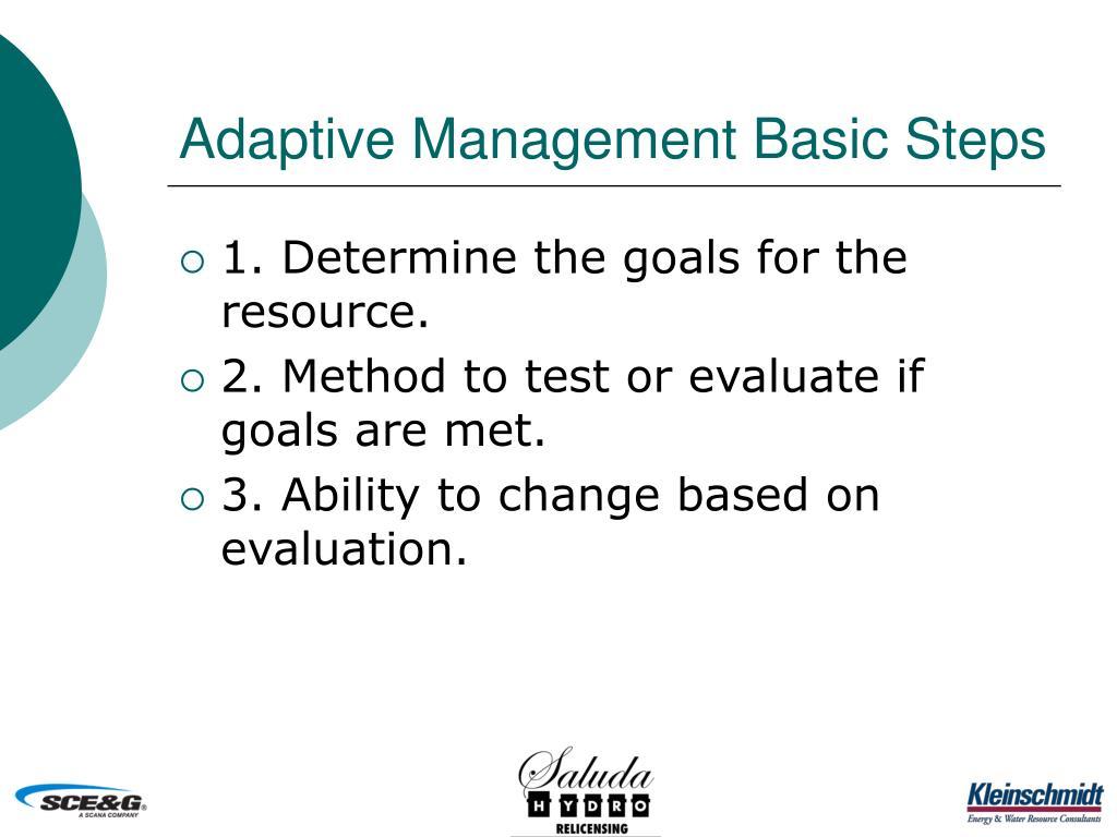 Adaptive Management Basic Steps