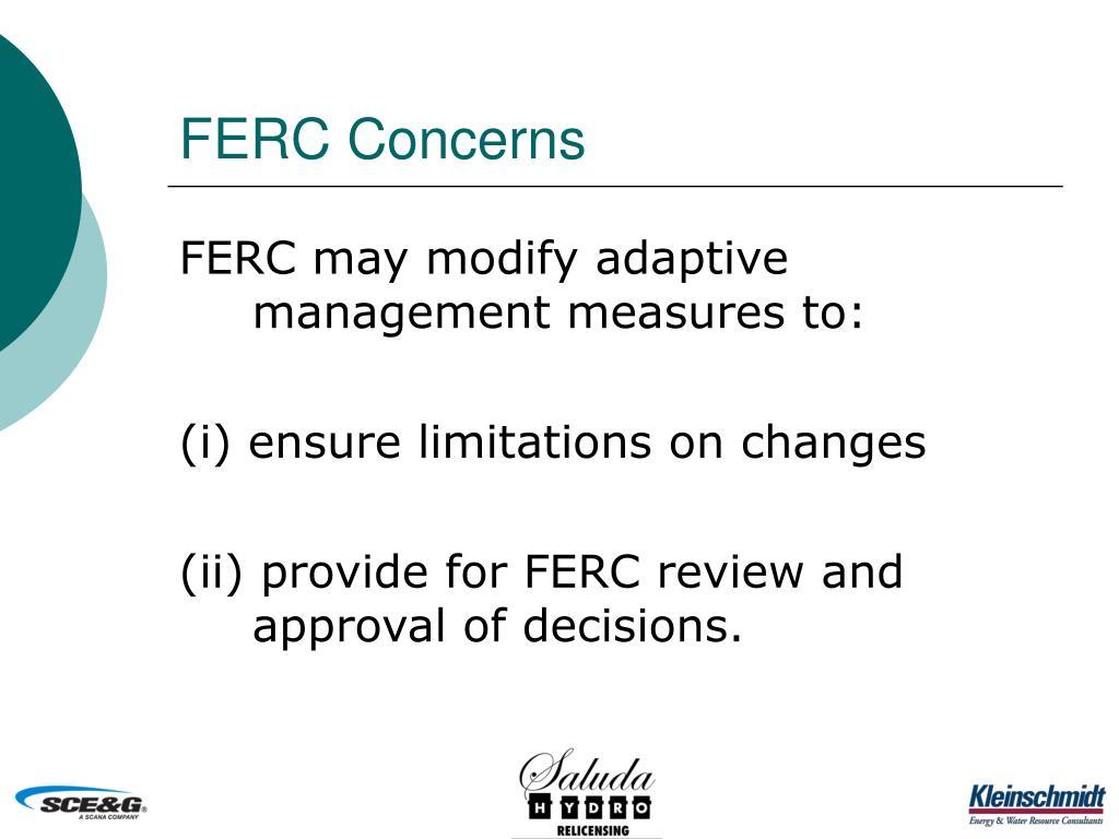 FERC Concerns