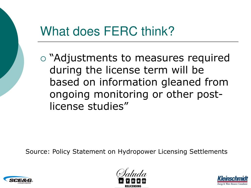 What does FERC think?