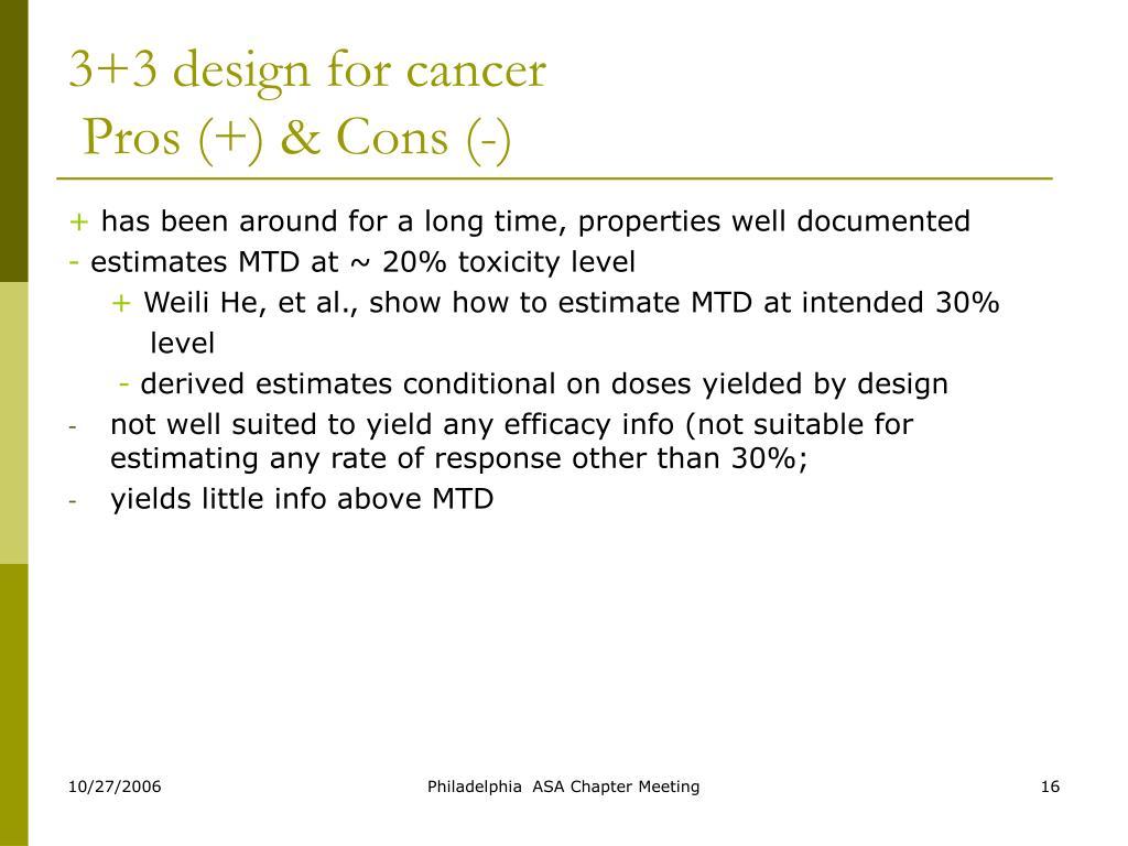 3+3 design for cancer