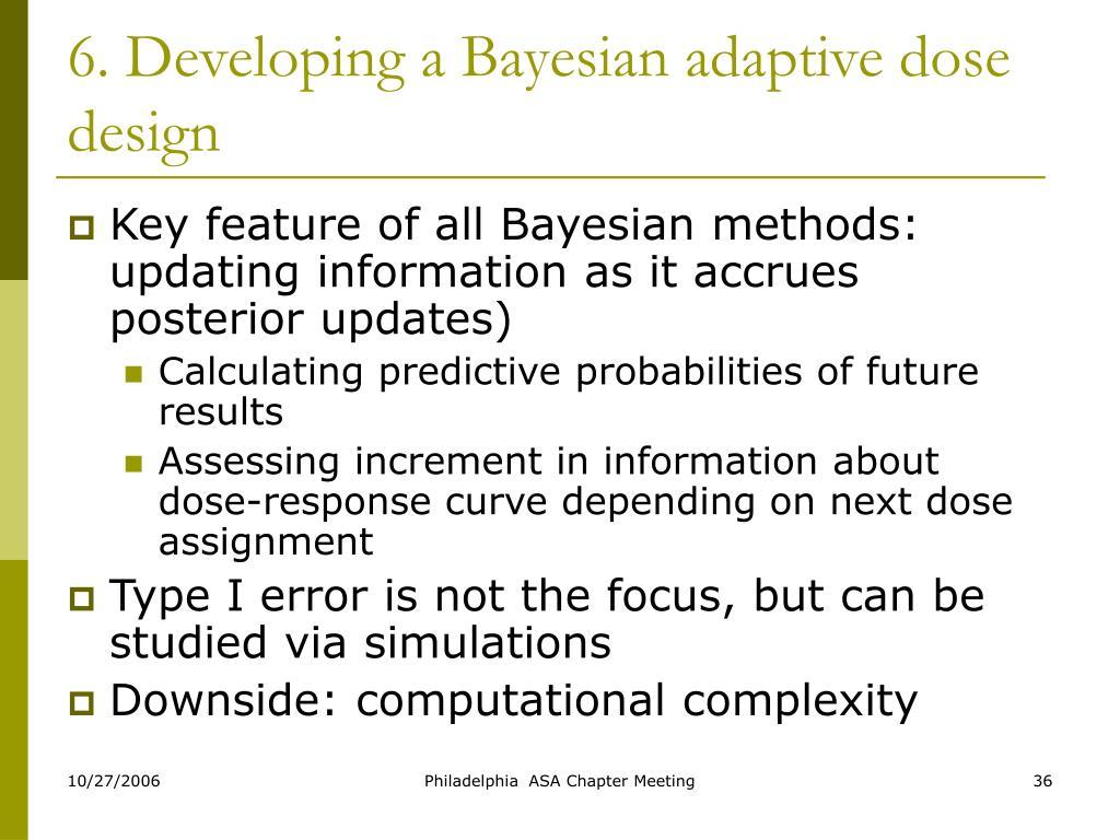 6. Developing a Bayesian adaptive dose design