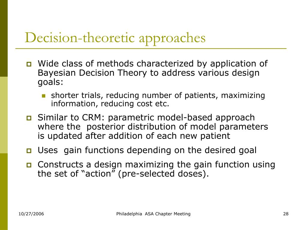 Decision-theoretic approaches