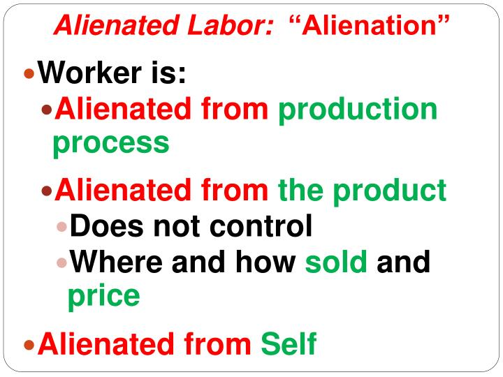 alienated labor by karl marx Can someone briefly summarize karl marx&#39  they are alienated from:  alienated labor karl marx source(s):.