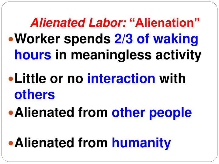marx essay on estranged labor