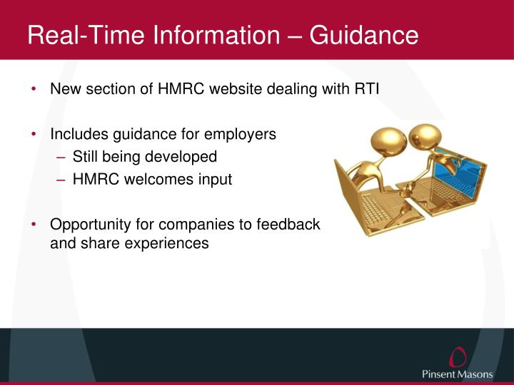 Real-Time Information – Guidance