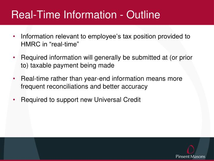 Real-Time Information - Outline