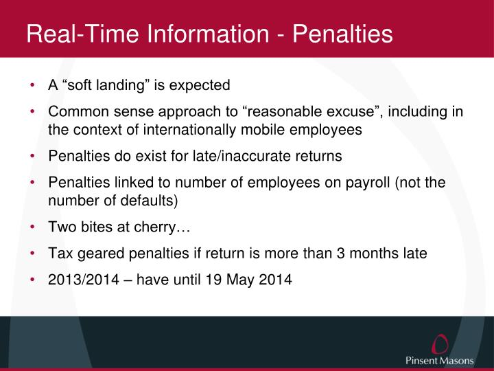 Real-Time Information - Penalties
