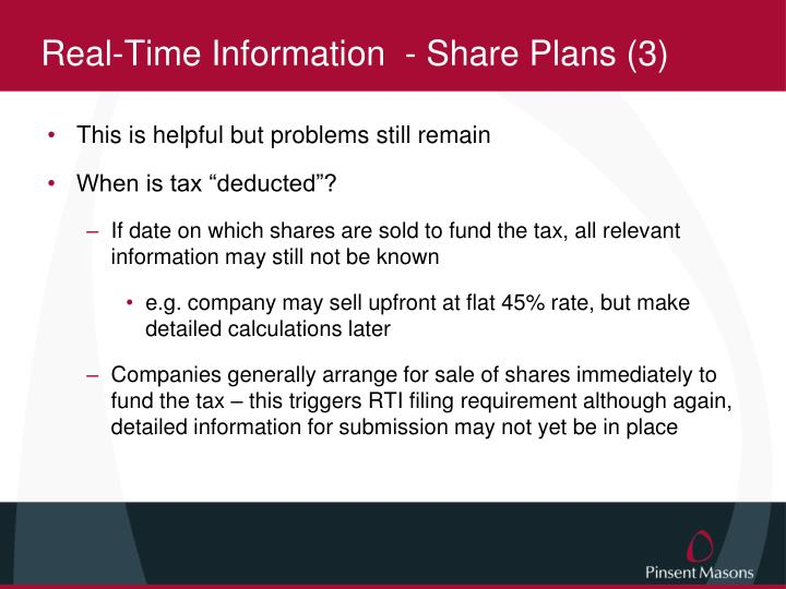 Real-Time Information  - Share Plans (3)