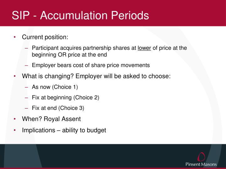 SIP - Accumulation Periods