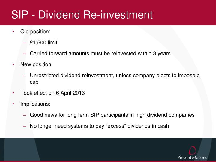 SIP - Dividend Re-investment